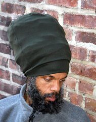 Olive Turbo Stretch Hat
