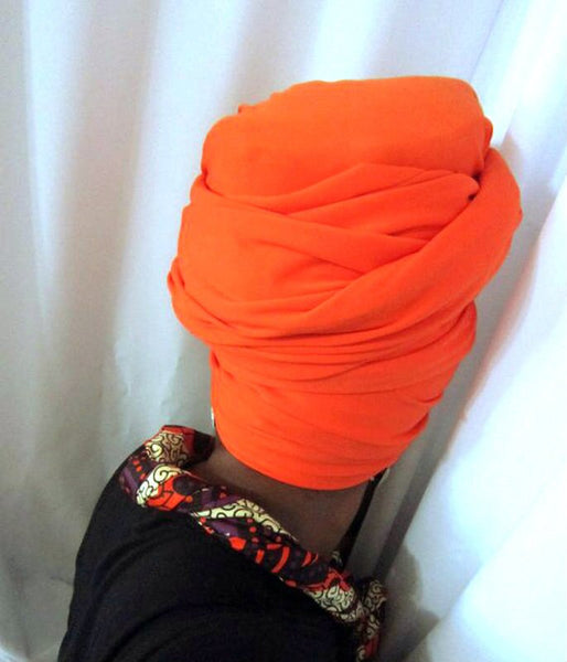 Ashanti- Orange Head-Wrap