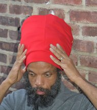Red Turbo Stretch Hat
