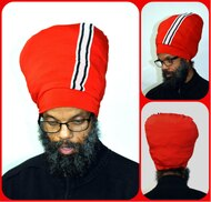 Red Side Stripe Stretch Hat
