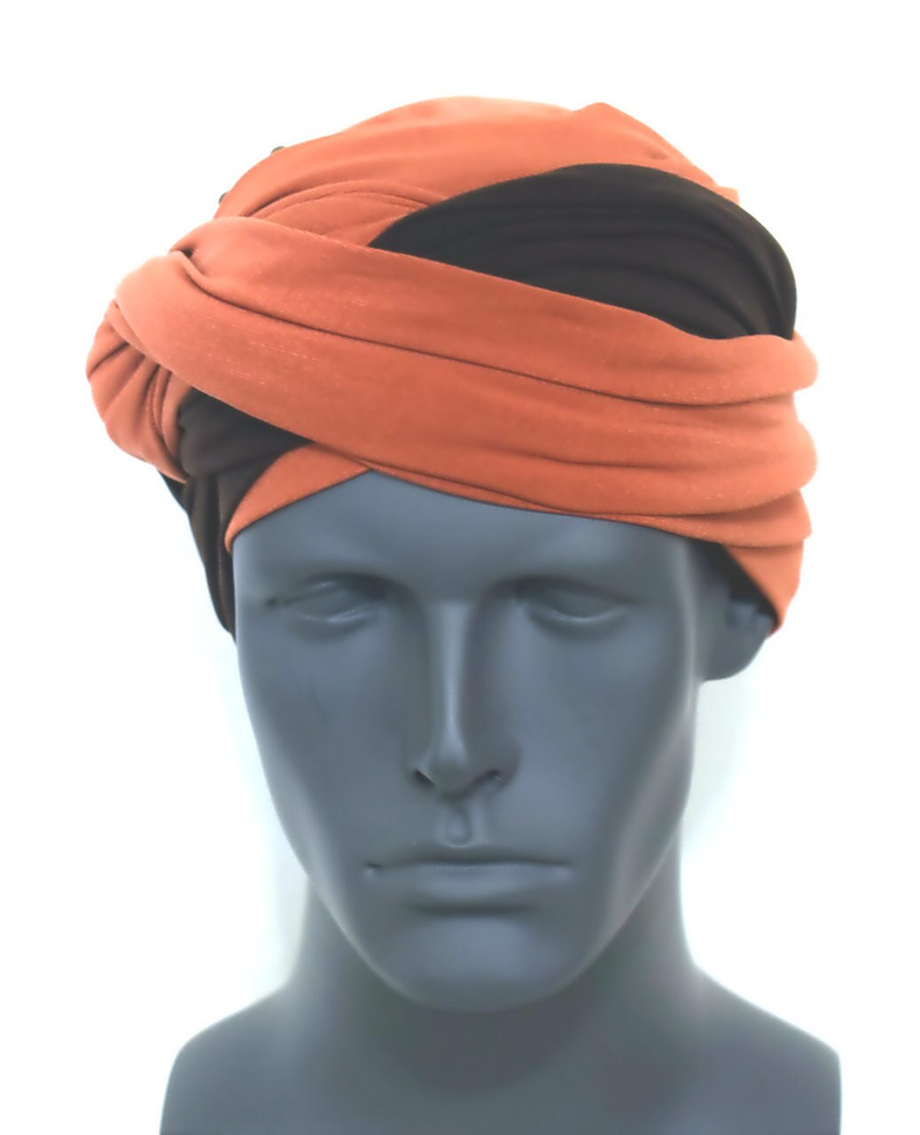 Rust and Brown EZ Turban for Men
