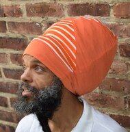 Stripe Splice Stretch Hat