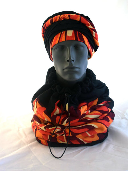 Sunburst EZ PZ Turban Wrap and Matching Scarf for Men