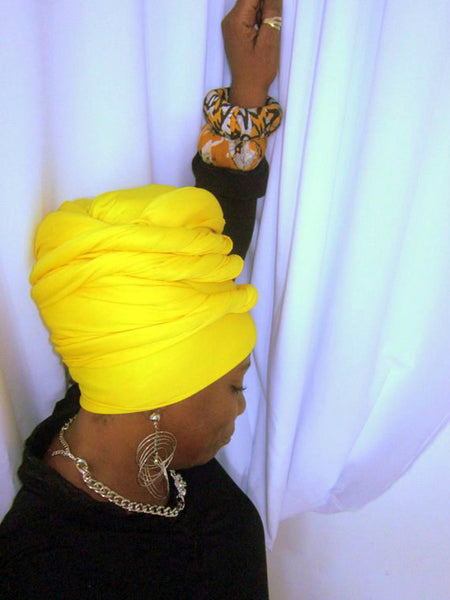 Yaz- Yellow Head-Wrap