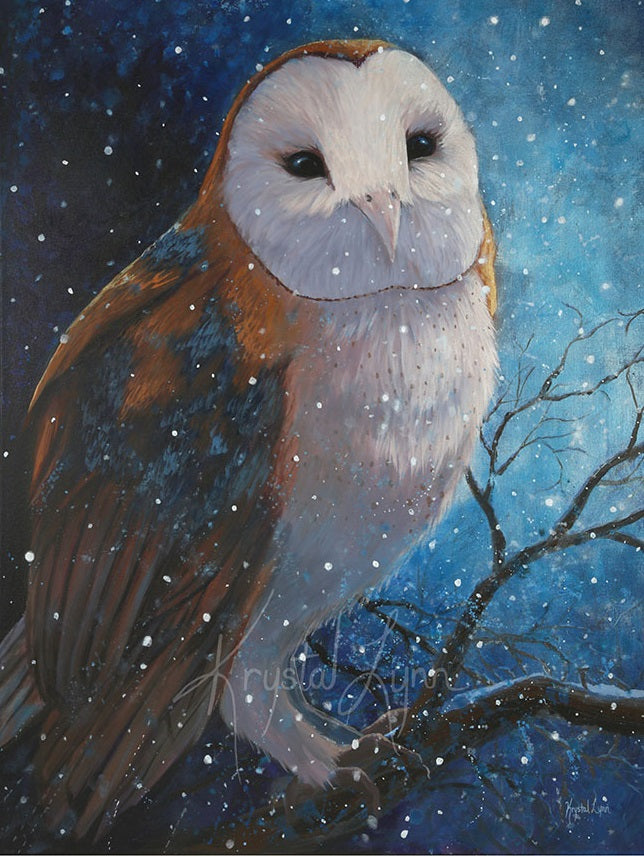 Moonlit Owl (Print or Card)