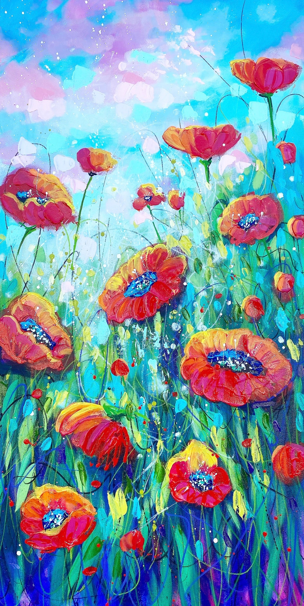 Playful Poppies VI