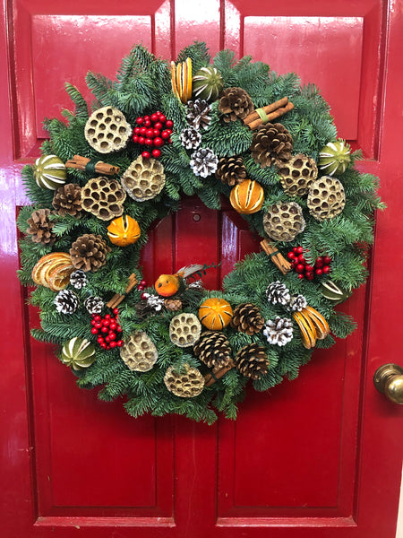Red Robin Christmas Wreath