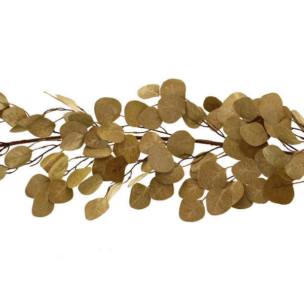 Metallic Gold Euclayptus Faux Garland