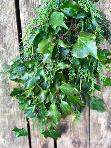 Ivy and conifer foliage garland