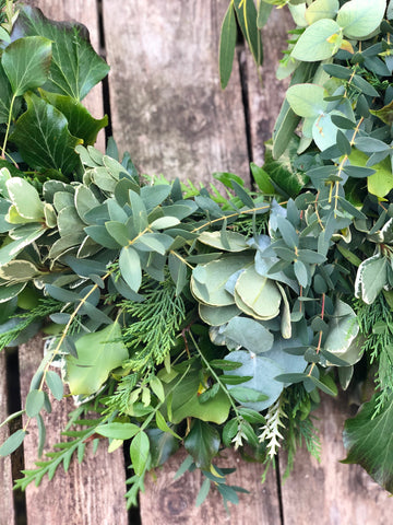 Luxury fresh foliage garland