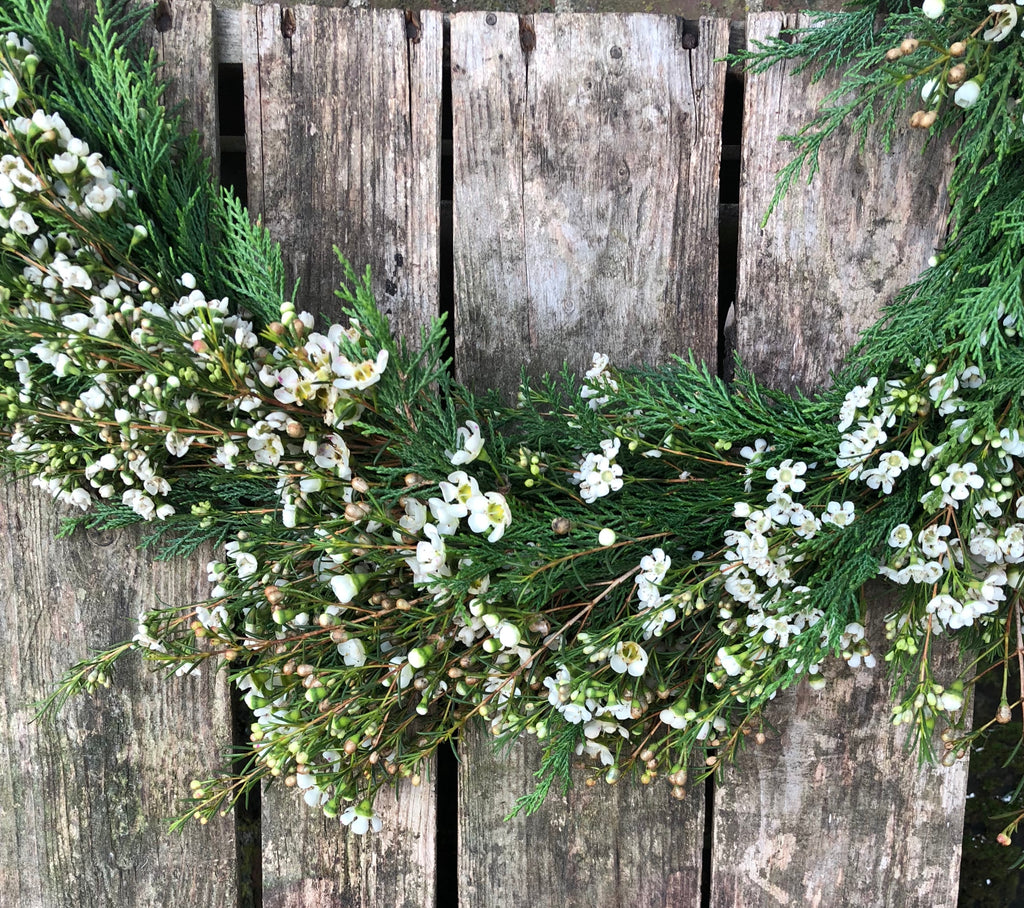 wax flower garland ideal for events