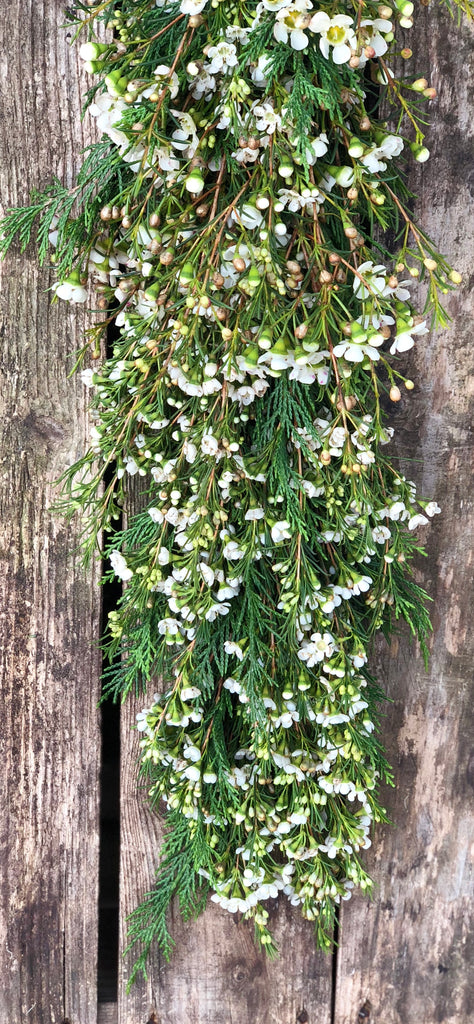 fresh wax flower hand crafted garland ideal for weddings