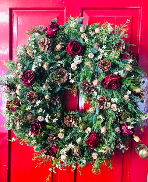 """A Rose by Any Other Name"" Christmas Wreath"