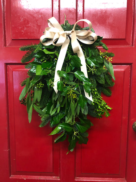 The Hedgerow Christmas Door Swag