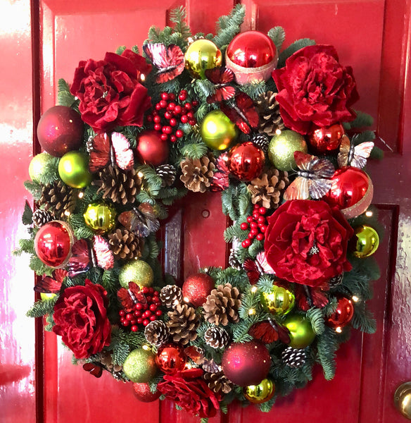 """Merry Christmas"" Luxury Christmas Wreath"