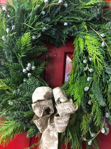 Fabulous foliage Christmas wreath