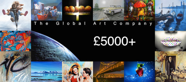 Original paintings over £5000 on The Global Art Company