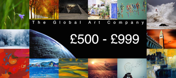 Original paintings between £500 - £999 on The Global Art Company