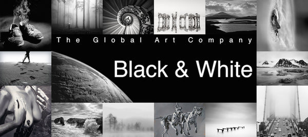 The Black and White art collection on The Global Art Company