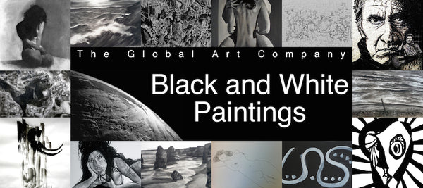 Black and white art gallery on The Global Art Company