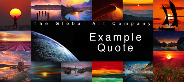 The Global Art Company - Example quote