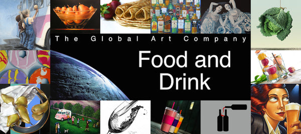 Food and Drink art collection on The Global Art Company
