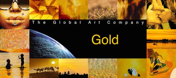 The Gold art collection on The Global Art Company