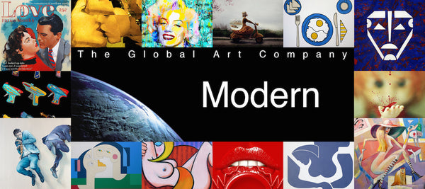 The modern art collection on The Global Art Company