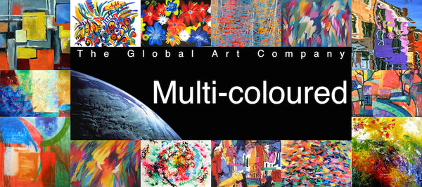 Multi coloured art on The Global Art company