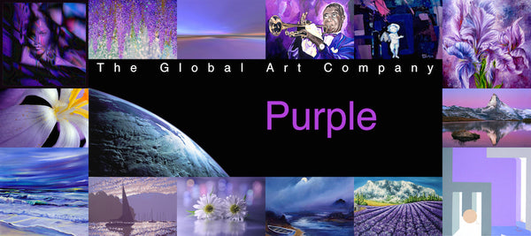 The Purple art collection on The Global Art Company
