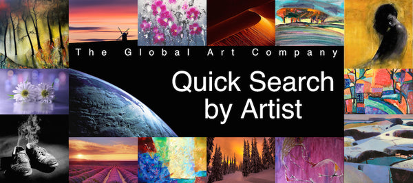 The Global Art Company artist quick search page