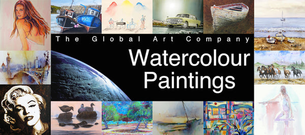 Original watercolour art gallery on The Global Art Company