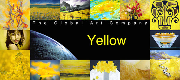 The Yellow art collection on The Global Art Company