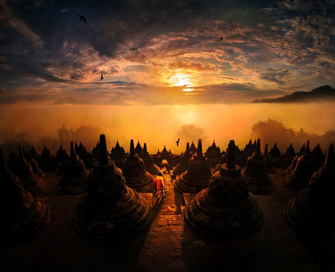 Sunrise @ Borobudur, Indonesia