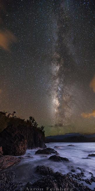 Amazing long exposure photograph of the milky way