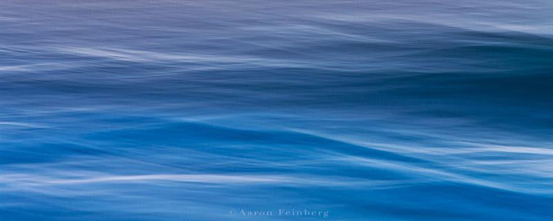 Abstract photograph in stunning blue of the ocean