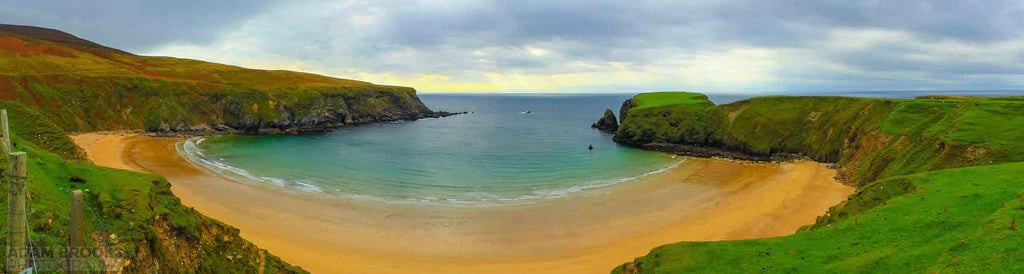 Stunning view overlooking the Golden sands of Silver Strand Beach in Co. Donegal Ireland