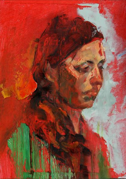 Original oil painting of a portrait of a woman called Jill
