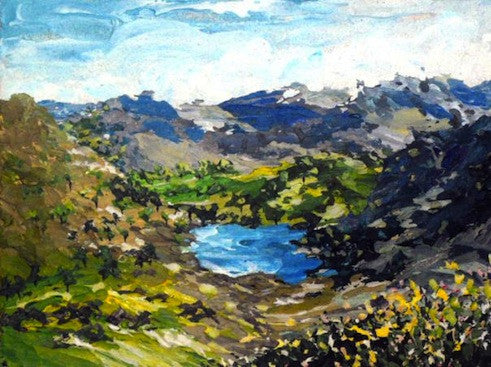 Beautiful original painting of the Lake district in early Spring