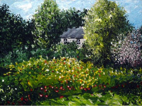 Beautiful original painting of a cottage in Derwent Valley Derbyshire