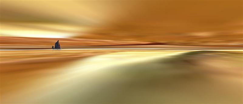 Stunning abstract photography of sand dunes in gold and yellow