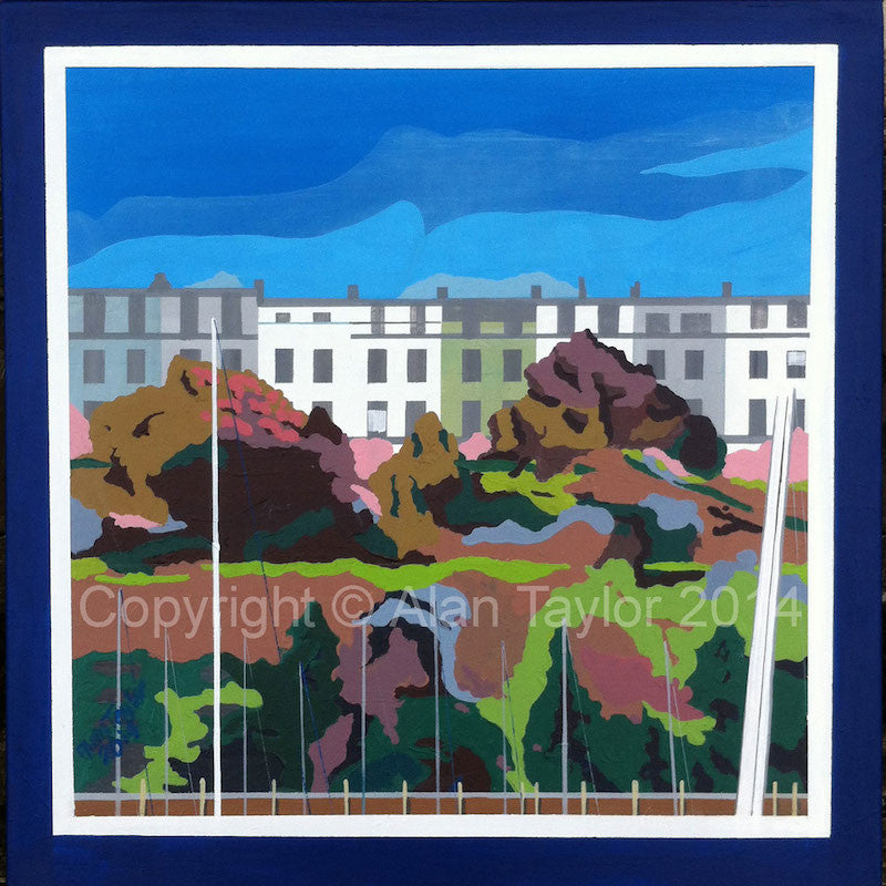 Original acrylic painting of Ilfracombe Quintus