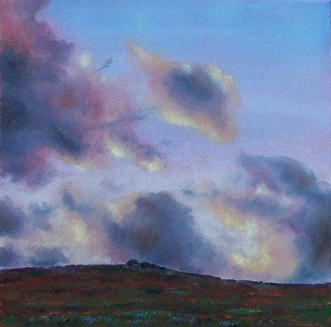 Beautiful original landscape painting of Penwith in west cornwall at dusk