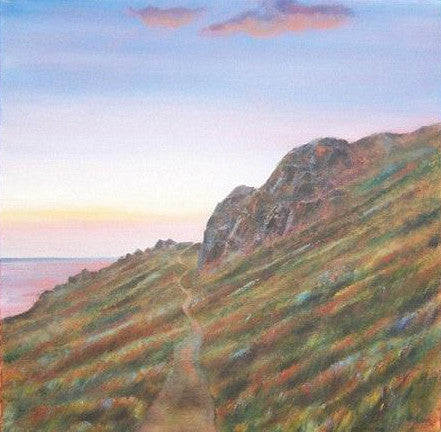 Amazing original landscape painting of Gwennap Head not far from Lands End