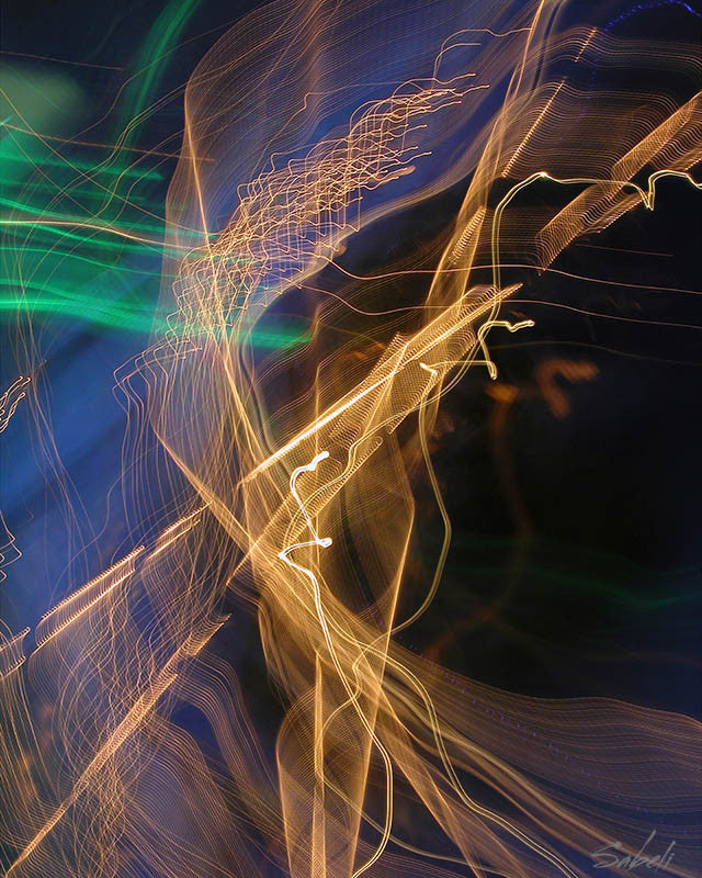 Abstract digital image with light abstracts