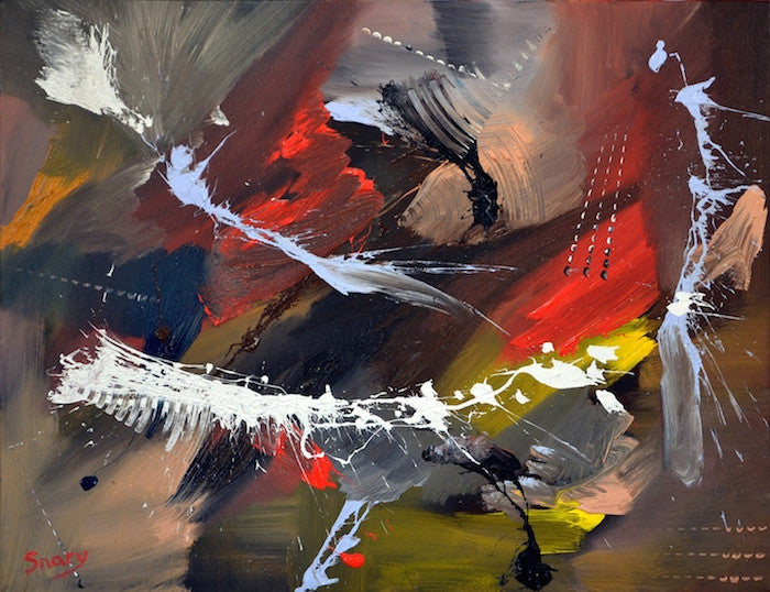 Abstract painting showing the form of dance and music with lots of energy