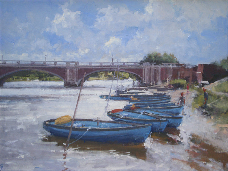 Moorings by Hampton Court Bridge