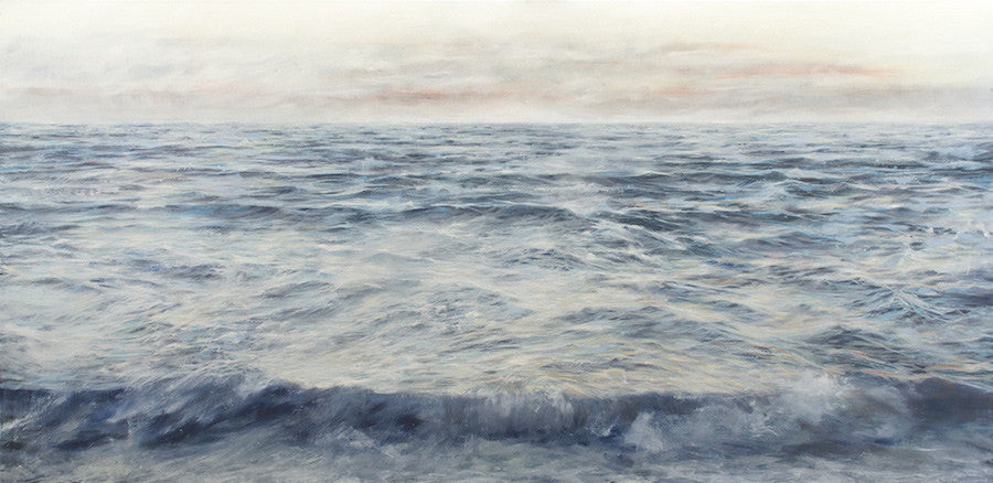 Original oil painting of a detailed seascape after the storm