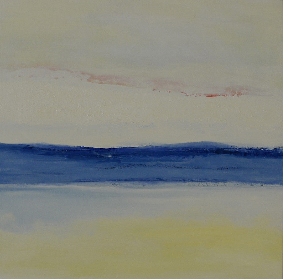 Abstract landscape painting of a calm sea