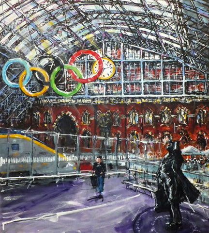 The Olympic Rings, St Pancras Station, London